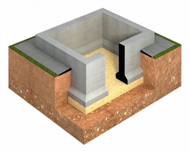Цокольный 10х12 - для деревянного дома